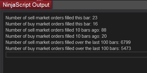 Buy Sell Volume NinjaScript Output
